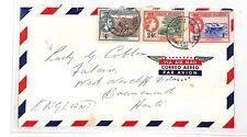 HH149 1957 Virgin Islands Tortola GB Cover Bournemouth Lady Cobham PTS