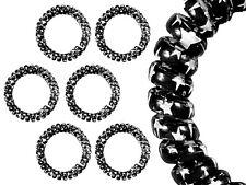 Spiral-Haargummi, Telefonkabel, Haargummi, groß, schwarz mit Sternen, 3 Stück