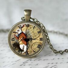 UK WHITE RABBIT NECKLACE Alice in Wonderland / Vintage Style Jewellery Gift Idea