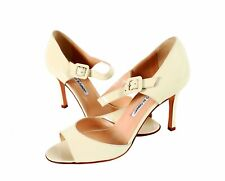Manolo Blahnik Caldo Pumps Sandals Mary Jane New in Box Size 39 or 8 1/2