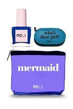 NCLA Mermaid Cosmetic Bag & Manicure Set + Polish~ Venice Beach Vixen- New