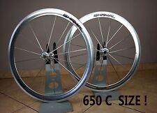 RARE 650C! CAMPAGNOLO SHAMAL WHEEL SET VERY RARE CLINCHER VINTAGE TT / TRIATHLON