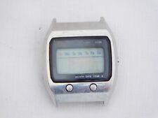 Original Seiko 0674-5000 LCD Quartz James Bond Stainless Steel Wristwatch