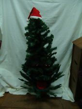 "VNTG 48"" HUGE GEMMY TALKING SINGING ANIMATED DOUGLAS FIR CHRISTMAS TREE &&& LOOK"