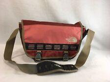 The North Face Pack Shoulder Messenger Bag Pink Maroon Canvas Buckle Closure