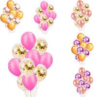 AU 12'' Confetti Balloons 10x/set Latex Wedding Party Baby Shower Birthday Decor