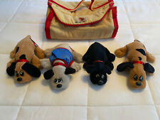 Vintage 80's  Tonka Pound Puppies Newborns & Carrying case & jigsaw puzzle