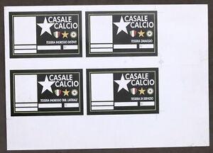 Casale Calcio - Pagina stampa Tessere - Club Italia Sport