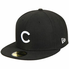 New Era 5950 CHICAGO CUBS Fitted Cap Black White MLB Baseball Hat