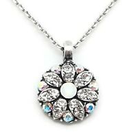 Mariana On a Clear Day Swarovski Silver Necklace Guardian Angel White Clear 001