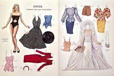 Vintage Pat Stall Paper Doll, Jocelyn, A Bride and her Trousseau, 1988 Uncut