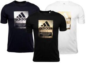 adidas Herren T-Shirt Badge Of Sport Box Foil Graphic Fitness Training Sport