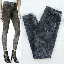 ca2e32d8d6b83d GUESS Lena Fuseaux Floral Grey Coated Women's Leggings Jeans Size 28x29