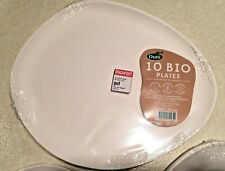 Duni Bio Paper Disposable Plates Bagasse ECOECHO/COMPOSTABLE/RENEWABLE MATERIAL