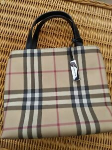 Burberry Authentic Nova Check Small Tote Bag with Dust bag