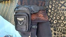 ❤️ VALOR BAG WAIST LEG HIP HOLSTER PURSE POUCH BELT BAG BLACK STEAMPUNK ❤️