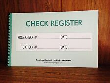 Large Print Check Register,8 1/2 x  14 inches.