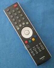 Genuine Original TOSHIBA CT-873 Tv Vcr Dvd Télécommande testé et nettoyé