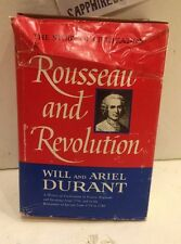 THE STORY OF CIVILIZATION ROUSSEAU AND REVOLUTION. DURANT HARDCOVER BOOK 1967
