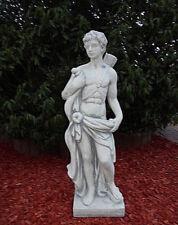 "Gartenfiguren, Statue ""Apollon"" 85 cm Steinguss Jäger, Steinfigur Top Gartendeko"