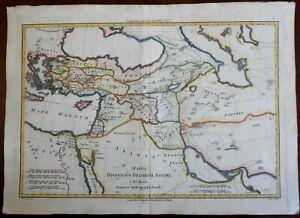 Sons of Noah Middle East Egypt Holy Land Anatolia Iran 1780 Bonne engraved map