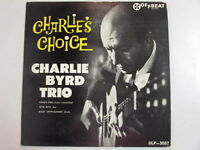 CHARLIE BYRD TRIO CHARLIE'S CHOICE MONO LP MICROGROOVE OLP-3007 OFFBEAT LABEL
