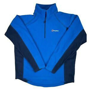 Berghaus Men's Hartsop Half Zip Fleece Mid Layer Blue Size Large
