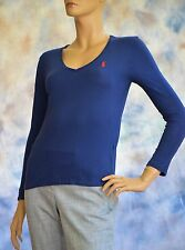 NWT RALPH LAUREN SPORT Sz S 100% Cotton Long Sleeve T Shirt Top Blouse Navy Blue