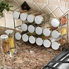 Polder Spice And Herbs Rack Storage Space Holder 18 Glass Bottles Jars Chrome