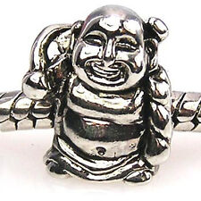 Lot 5pcs Smiling Buddha Silver European Spacers Charms Beads For Bracelet LEB49
