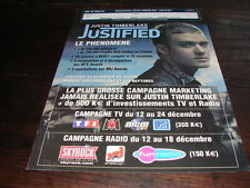 JUSTIN TIMBERLAKE LE PHENOMENE!!!!RARE FRENCH PRESS/KIT
