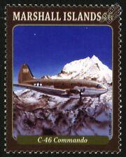 Curtiss C-46 Commando de Transporte Militar Segunda Guerra Mundial Aviones Sello de menta (2013)