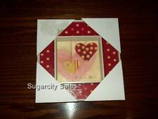 NWT lot of 2 VALENTINE I LOVE YOU MESSAGE HEART PICTURE SHADOW BOX - LIKE FRAME