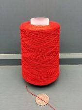 200G 64% CASHMERE 36% COTTON FINE YARN 2/36NM BRIGHT RED CARD