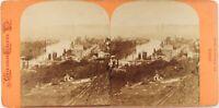Francia Rouen Vista Generale, Foto Stereo Vintage Albumina Ca 1870