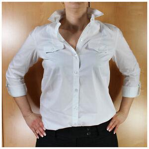 Esprit Bluse weiß Gr.40 Damenbluse stretch Businessbluse für Hosenanzug (#2552)