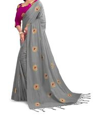 Vintage Women's Banarasi Silk Saree With Unstitched Blouse Piece sari