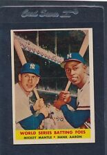 1958 Topps #418 Mickey Mantle Hank Aaron VG/EX 58T418-90215-2