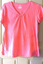 Danskin Now Ladies Athletic Shirt XL 16/1 Orange Coral