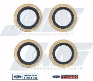 OEM Genuine Ford Powerstroke Diesel 14MM Fuel Banjo Bolt Washers / Seals (4)