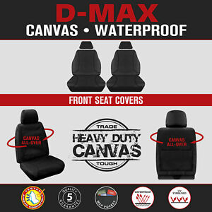 Isuzu D-Max DMax Dual Cab 2012-06/2020 TRADIES Canvas FRONT Custom Seat Covers
