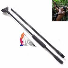 Black Blow Gun Junction Tube 10pcs Metal Needles Comfort Grip Fit Hunting Darts