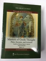 Great Courses DVD Masters of Greek Thought Plato, Socrates, and Aristotle,