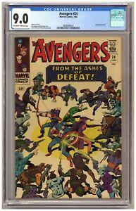 Avengers 24 (CGC 9.0) Kang appearance; Jack Kirby; Wally Wood; Don Heck C115