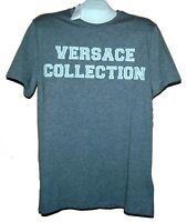Versace  Collection White Silver Logo Design Men's Cotton Shirt T-Shirt Sz L