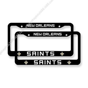 New Orleans Saints 2PCS Chrome License Plate Frame Set Auto Truck Car Tag Cover