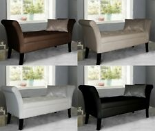 Wren Easy to Assemble Faux Leather Window Seat Ottoman Storage Bed End Sofa
