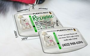 Puerto Rico Drivers License Pet ID tags Dog Tag Personalized Pet IDTag aluminum