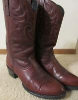 "DINGO Cattleman Brown Leather 11"" Roper Western Cowboy Boots MENS Size 9-1/2D"