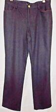 Ralph Lauren Black Label Stretch Wool Pants Gray Brown Suede Trim size 10